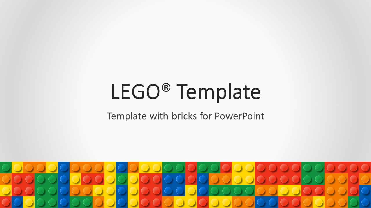 Nice Lego PowerPoint Template   Cover 3   Widescreen Nice Design
