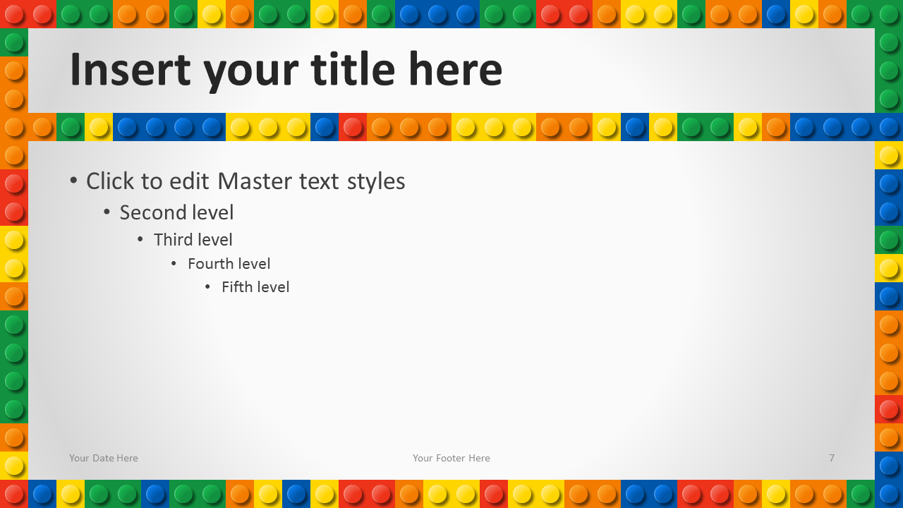 Google themes powerpoint - Lego Powerpoint Template Content 3 Widescreen