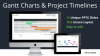 Gantt Charts and Project Timelines for PowerPoint (Widescreen)