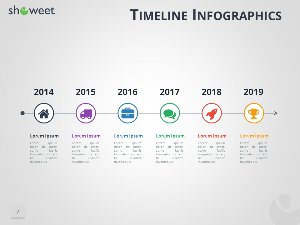 timeline template ppt free download