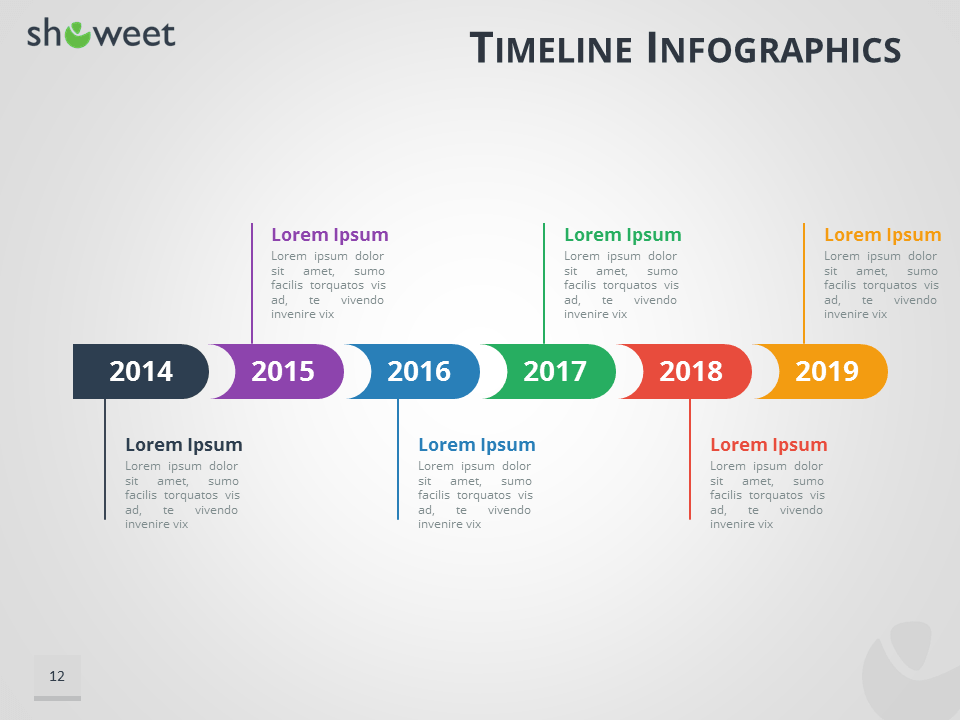 Infographics Templates For PowerPoint - Timeline html template