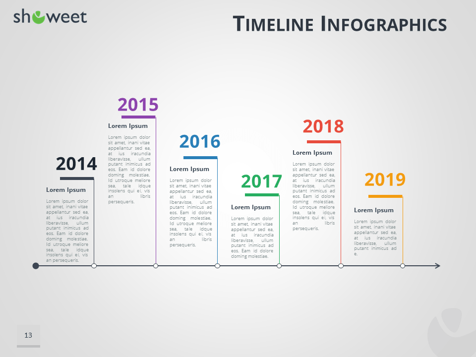Infographics Templates For PowerPoint - Timeline graphic template