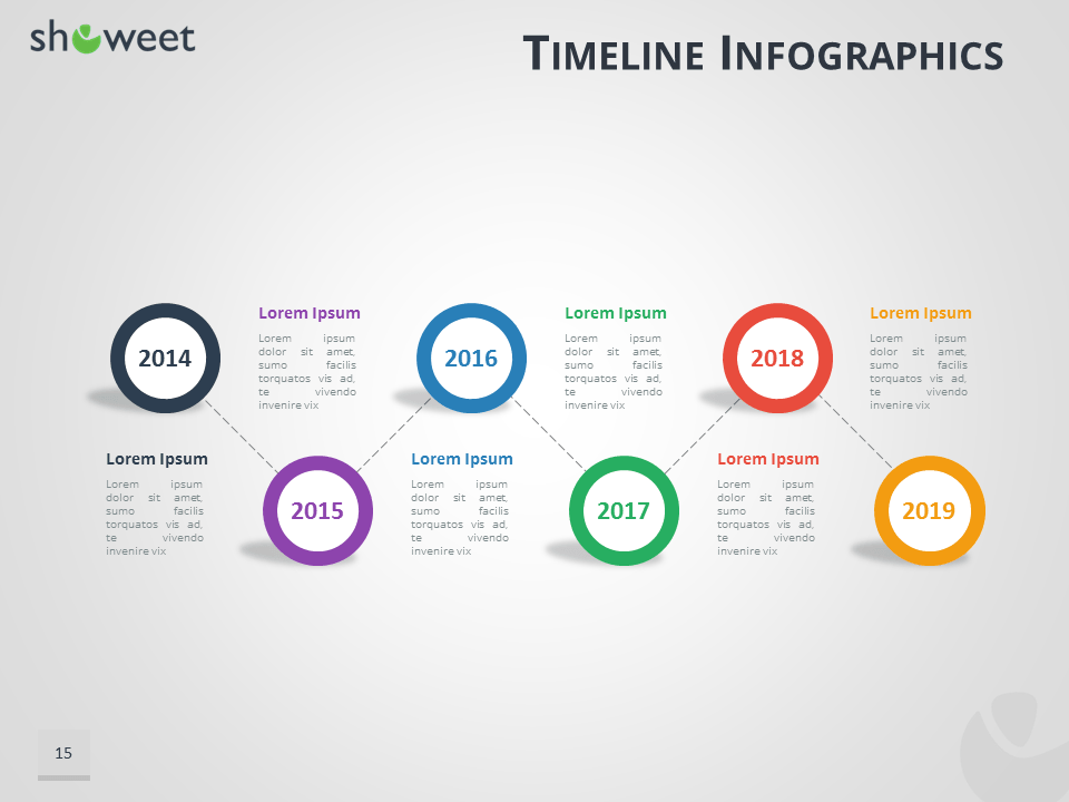 Flat Roadmap Horizontal Timelines For Powerpoint Free Blank