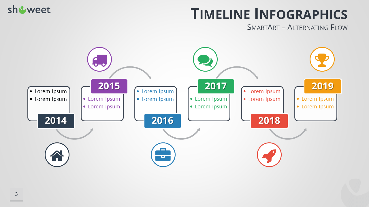 Timeline infographics templates for powerpoint timeline infographics for powerpoint using smartart graphics widescreen size toneelgroepblik Gallery