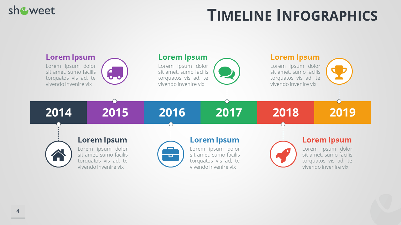 Timeline Infographics Templates For PowerPoint - Project timeline powerpoint template