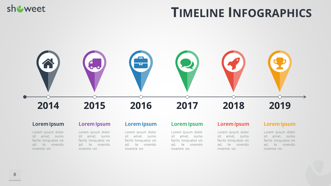 Timeline infographics templates for powerpoint timeline infographics for powerpoint with map location pins widescreen size toneelgroepblik