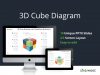 3D Cube Diagram for PowerPoint and Keynote - Cover Slide