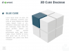3D Cube Diagram for PowerPoint and Keynote - Blue Cube