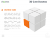 3D Cube Diagram for PowerPoint and Keynote - Orange Cube