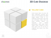 3D Cube Diagram for PowerPoint and Keynote - Yellow Cube