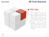 3D Cube Diagram for PowerPoint and Keynote - Red Cube
