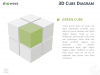 3D Cube Diagram for PowerPoint and Keynote - Green Cube