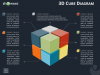 3D Cube Diagram Infographics for PowerPoint and Keynote - Dark Layout
