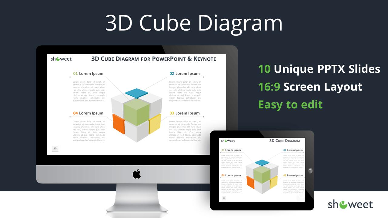 3d cube diagram for powerpoint and keynote 3d cube diagram for powerpoint and keynote cover slide widescreen toneelgroepblik Gallery