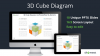 3D Cube Diagram for PowerPoint and Keynote - Cover Slide - Widescreen