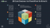 3D Cube Diagram Infographics for PowerPoint and Keynote - Dark Layout - Widescreen