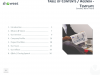 Table of Contents - Agenda - Template for PowerPoint and Keynote - Left