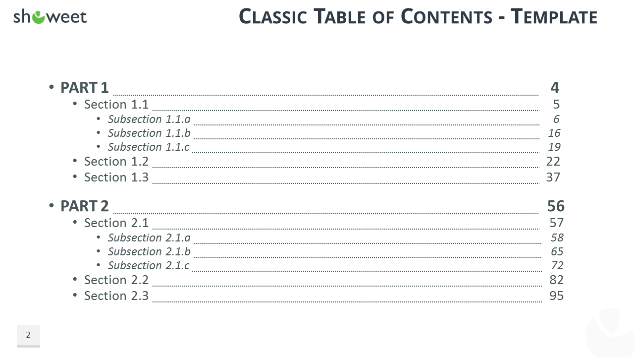 table content Download pre-designed table of content powerpoint templates and slide designs that you can use to make slides on presentation agenda and table of content using.