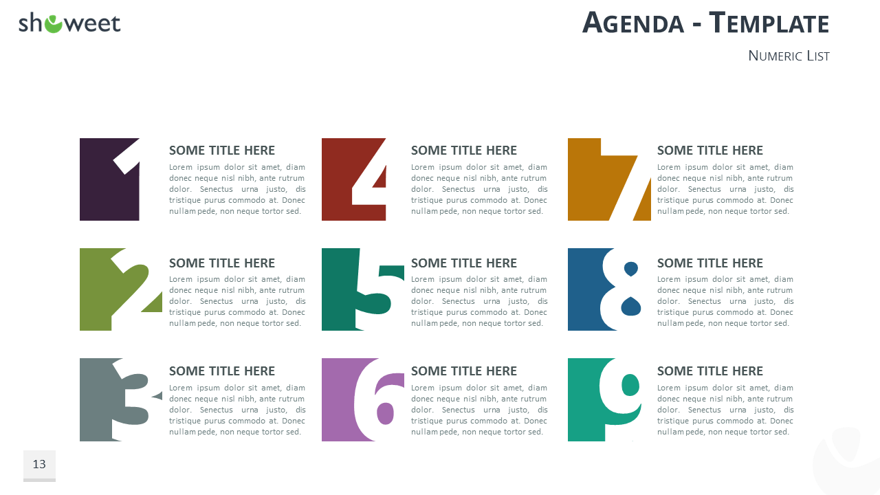 Table of content templates for powerpoint and keynote table of contents and agenda free templates for powerpoint and keynote with numeric list toneelgroepblik Images