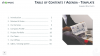Table of Contents and Agenda - Free Templates for PowerPoint and Keynote - Left