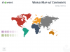 Worldmap with Continents for PowerPoint and Keynote