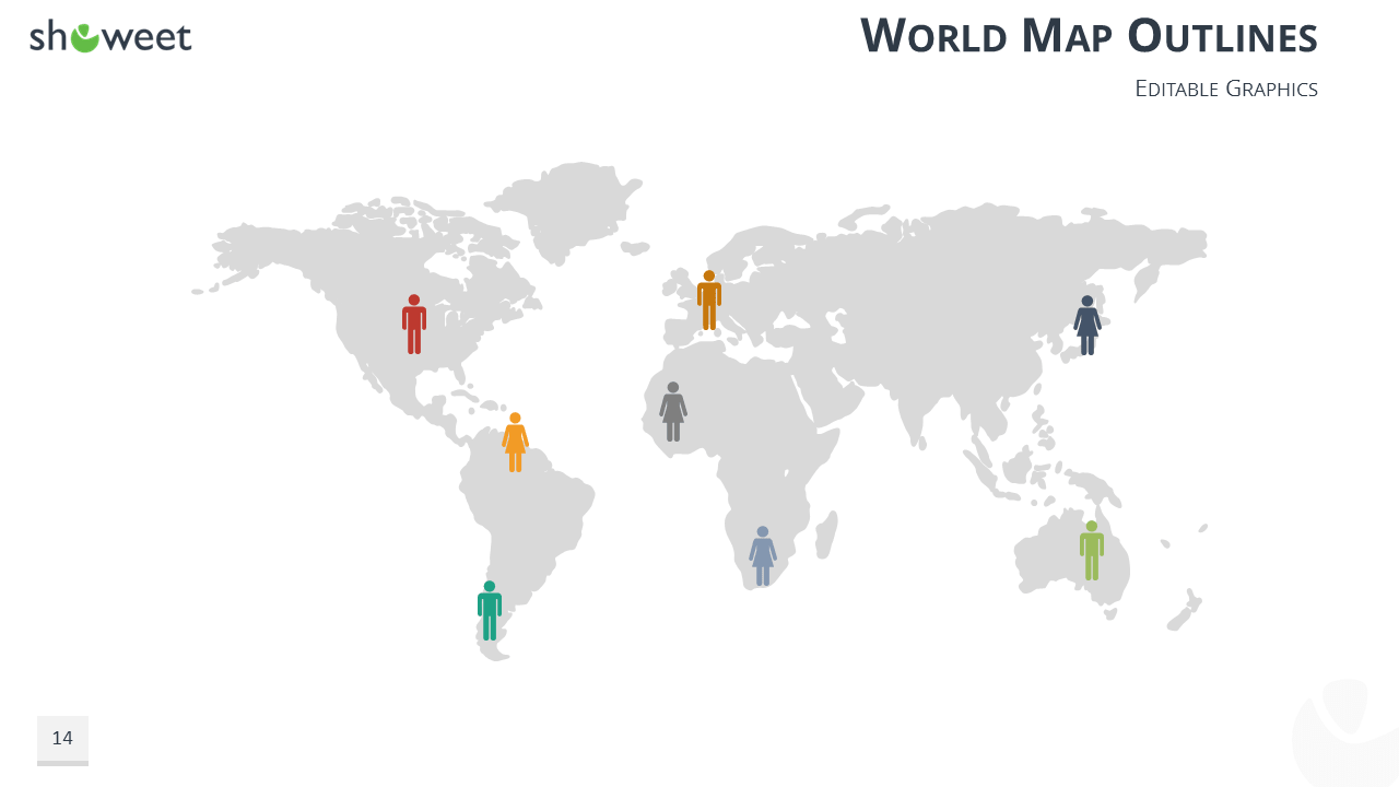 Powerpoint Global Map.Demographic Infographics For Powerpoint And Keynote