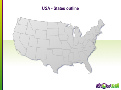 Free PowerPoint Maps Of USA - Us maps states