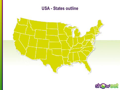 Free PowerPoint Maps Of USA - Us map editable in powerpoint