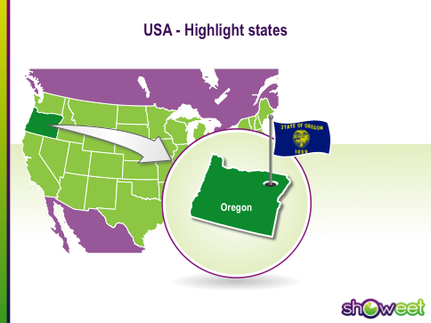 Free PowerPoint Maps Of USA - Us map powerpoint template