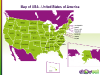 Free PowerPoint USA Map - Slide 01