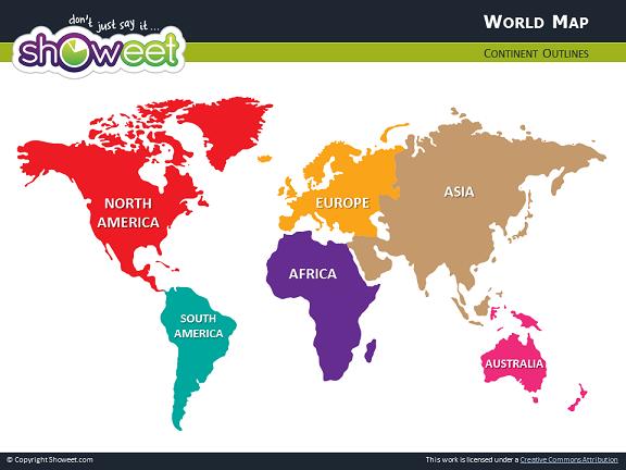 Carte du monde pour powerpoint - Carte du monde en couleur ...