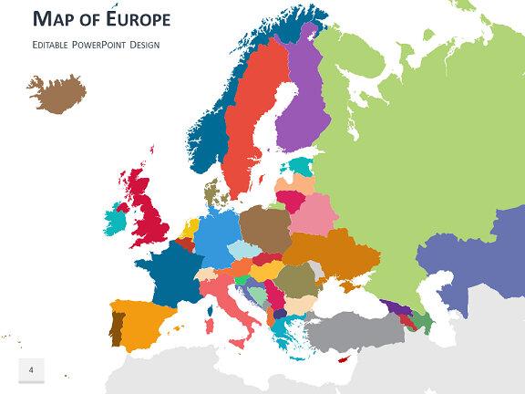Carte De Leurope Powerpoint.Modeles Carte Europe Powerpoint