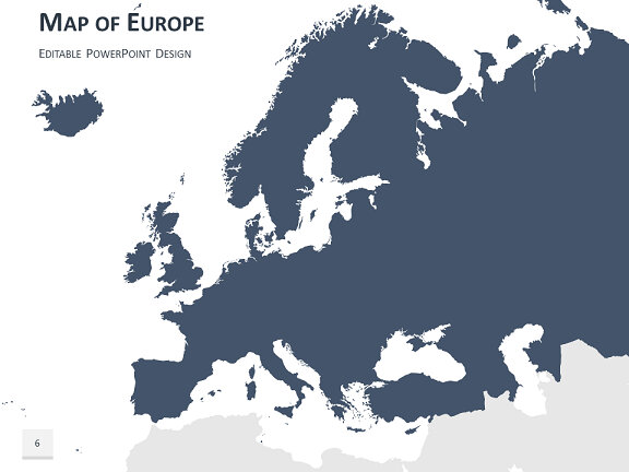 Editable Map Of Europe   Kleo.beachfix.co