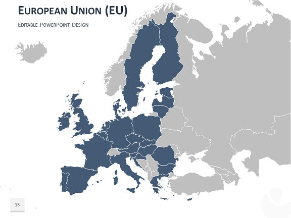 europe map powerpoint template
