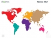 PowerPoint World Map with Rollover Effect - Editable continents