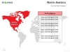 PowerPoint World Map with Rollover Effect - North America