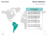 PowerPoint World Map with Rollover Effect - South America