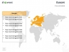 PowerPoint World Map with Rollover Effect - Europe