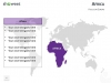 PowerPoint World Map with Rollover Effect - Africa