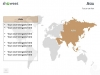 PowerPoint World Map with Rollover Effect - Asia