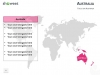 PowerPoint World Map with Rollover Effect - Australia