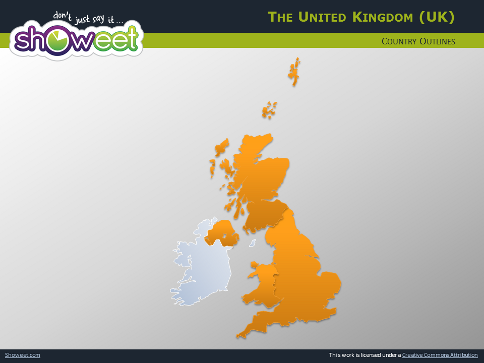 Map Of Uk Template.Free Maps Of United Kingdom For Powerpoint