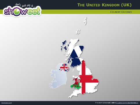 Free maps of united kingdom for powerpoint powerpoint map of united kingdom slide 12 toneelgroepblik Choice Image