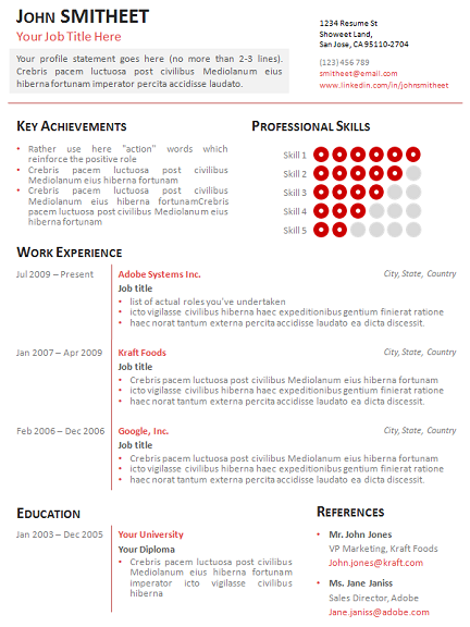 1 page minimalist resumecv template for powerpoint slide3