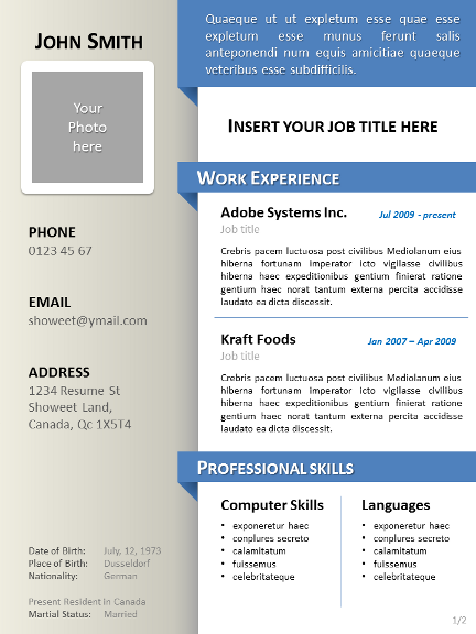 Simple Clean Curriculum Vitae Template Powerpoint 01