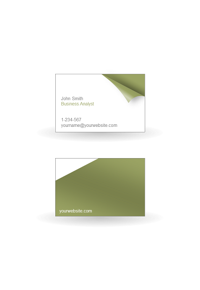 powerpoint business cards template