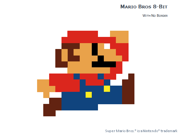 8 Bit Pixel Mario Bros Pour Powerpoint
