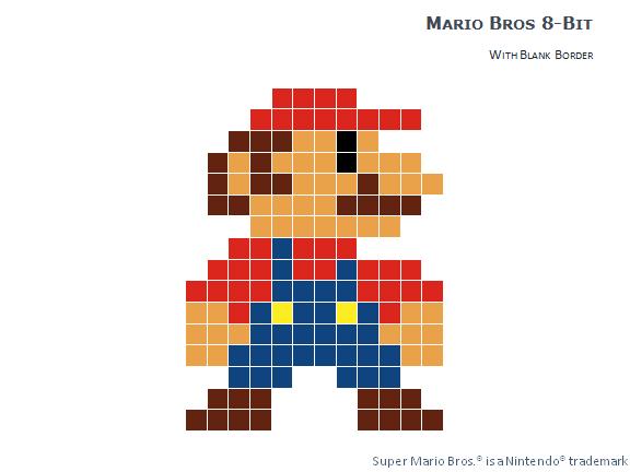 8 Bit Pixel Mario Bros For Powerpoint