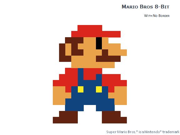 8-bit Pixel Mario Bros for PowerPoint