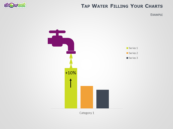tap water shape to fill your powerpoint charts